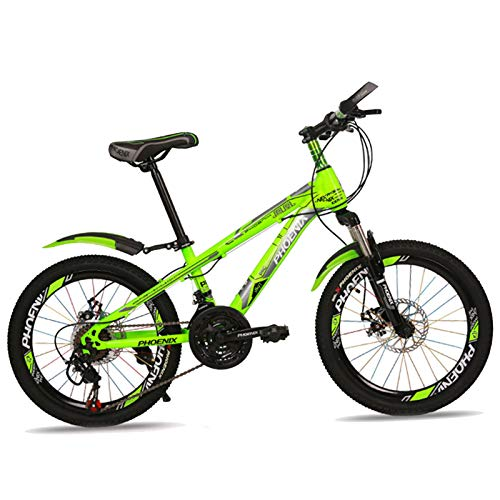 Axdwfd Kids Bike 20 Inch Children's Outdoor Bicycle, Bicycle High-carbon Frame, Suitable for Boys and Girls Aged 9-14 Bicycle