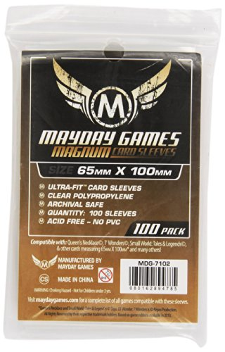 Mayday Games-MDG7102-Buste Protettive Carte 65x100 mm (100)