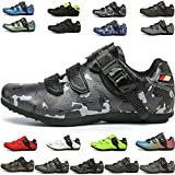 MIAOML Hombres Mujeres Deportes Al Aire Libre Zapatos De Ciclismo Zapatillas De Bicicleta De Montaña Zapatillas De Carreras Bicicleta De Carretera Plana,L-45 EU