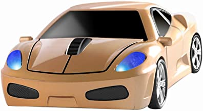 Wireless Mouse 2.4GHz Cool Sport Car Shape Wireless Mouse Optical Cordless Mice with USB Receiver for PC Laptop Computer 1...