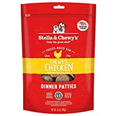 Convenient raw mealtime nutrition Made in the USA - Stella's Super Beef Dinner Patties' all-natural recipe is crafted with care in small batches in Stella & Chewy's own USA kitchen to provide the highest levels of protein-rich meat and quality grain-...