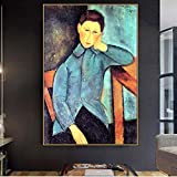 PLjVU Famoso Artista Maestro Boy Canvas Painting impresión de Cartel decoración de la Pared de la Sala de Estar-Sin marco30x45cm