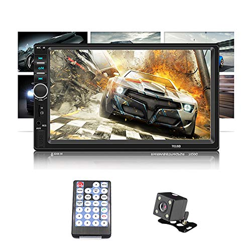 Double Din Car Stereo WZTO Car Stereo Compatible with 7 inch Touch Screen Bluetooth Headunit TF USB FM Aux-in Radio Audio Support Backup Rear View Camera Mirror Link & Steering Wheel Controls