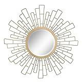 Stonebriar - Espejo Decorativo Redondo de Oro Antiguo de 58,4 cm de Metal geométrico para Colgar en la Pared, decoración Moderna Boho para la Sala de Estar, baño, Dormitorio y Entrada