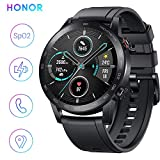 HONOR Smartwatch Magic Watch 2 Orologio Fitness Tracker Uomo Donna Smart Watch, 5 ATM Smart Watch Cardiofrequenzimetro da Polso Pressione Smartband, GPS, 46 mm, Chiamata Tramite Bluetooth, Matte Black