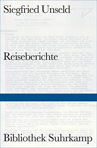 Reiseberichte (Bibliothek Suhrkamp)