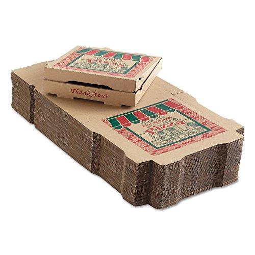 50 Corrugated Pizza Boxes 12w x 12d x 1 3/4h Kraft