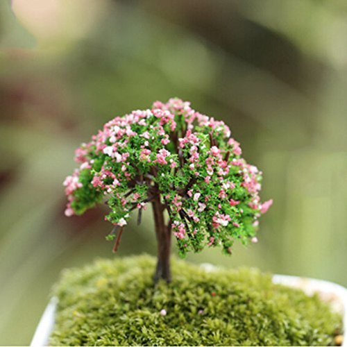 Nabati Arbre miniature plantes Fairy Garden Ornement Pot Décoration 1 pièce Happy Tree par Helper007