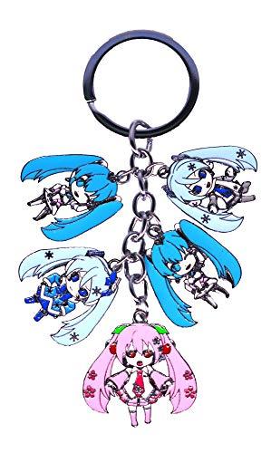 Anime Domain Porte-clés de Hatsune Miku avec 5 Figurines Chibi