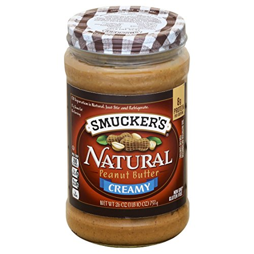 Smucker's Natural Creamy Peanut Butter, 26 Ounces (Pack of 6)