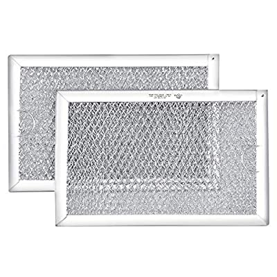 Primeswift WB06X10309 Aluminium Microwave Oven Grease Filter (2 PK),Replacement for GE Hotpoint-7-5/8 x 5 x 3/32 Inch
