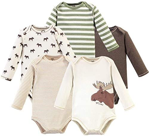 Touched by Nature baby boys Organic Cotton Long sleeve Bodysuits T Shirt Set Moose 18 24 Months product image