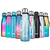 UMI. by Amazon - Botella Agua Acero Inoxidable 500ml, Termo Cafe para Llevar, Botella Térmica con Aislamiento de Vacío de Doble Pared, Sin BPA, para Niños Adultos, Deporte, Oficina, Viaje, Mármol