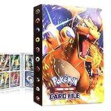 QIFAENY Album Pokemon, Album Pokemon Cartas, Álbum de Cartas coleccionables de Pokémon, Carpeta de Pokémon, Album Cartas Pokemon Tag GX EX, Capacidad para 30 páginas 240 Cartas (Charizard)