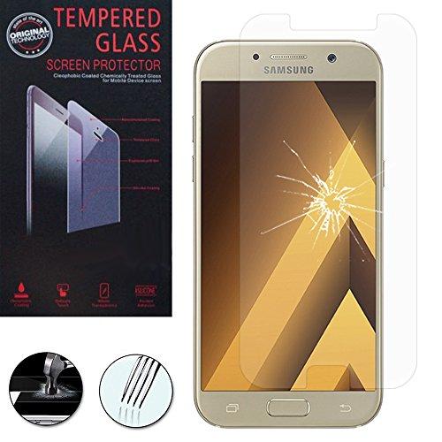 ANNART [1 Pieza Protector de Pantalla de Vidrio Templado para Samsung Galaxy A5 (2017) 5.2'A520F/A5 (2017) Dúos [Las Dimensiones Exactas Del Teléfono: 146.1 x 71.4 X 7.9MM ] - Transparente