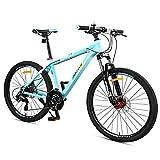 DJYD 27-Gang-Mountainbikes, Vorderachsfederung Hardtail Mountainbike, Erwachsene Person Frauen Mens All Terrain Fahrrad mit Doppelscheibenbremse, Rot, 24 Zoll FDWFN (Color : Blue, Size : 26Inch)