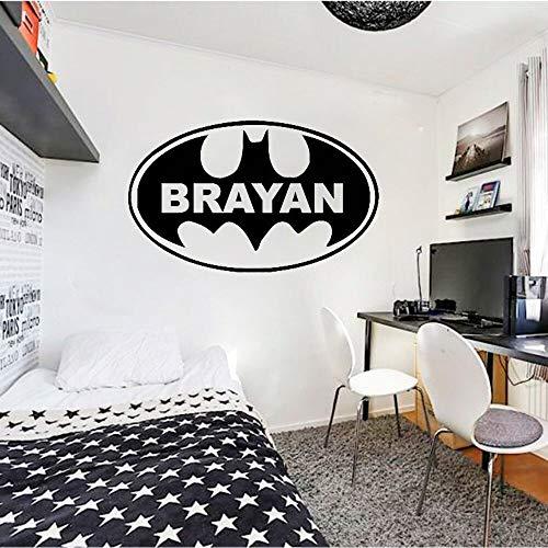 Pegatinas de pared de superhéroe, pegatinas de pared artística, decoración de dormitorio para niños, decoración de habitación para niños y niñas adolescentes
