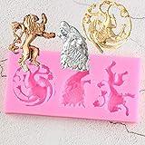 BeiQianE La Pasta de azúcar del Molde del silicón decoración de la Torta del azúcar del Molde de Chocolate para HornearMolde
