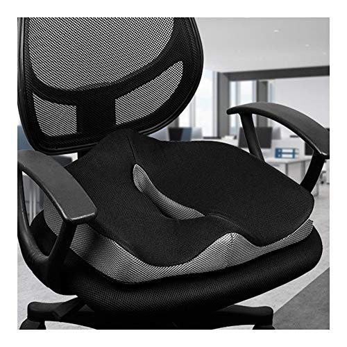 JZLMF Seat Pads Coccyx Orthopedic Comfortable Memory Foam Chair Car Seat Cushion For Lower Back Tailbone Cushion