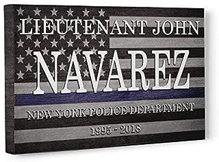 Police Officer Flag Retirement Gift Canvas Wall Art Decor