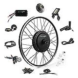 EBIKELING 48V 1200W 26' Direct Drive Waterproof Electric Bike Kit - Ebike Conversion Kit - Electric Bike Conversion Kit (Rear/LCD/Thumb)