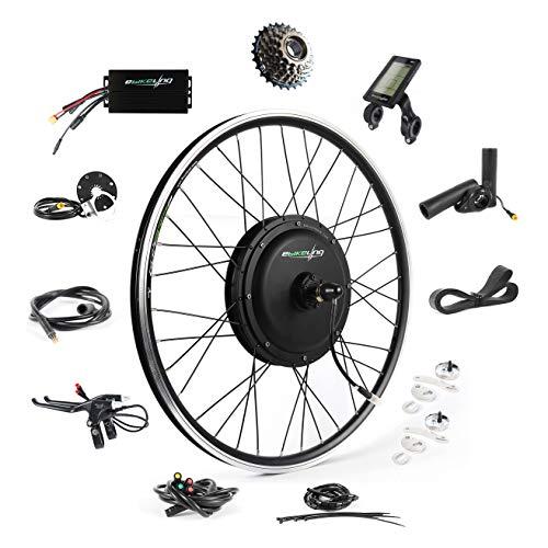 Ebike Conversion Kit 48V 1200W 26' Direct Drive Waterproof Electric Bike Conversion Kit - Ebike Kit - Hub Motor Kit (Rear/LCD/Thumb)