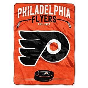"""Officially Licensed NHL Philadelphia Flyers """"Inspired"""" Plush Raschel Throw Blanket, 60"""" x 80"""", Multi Color"""