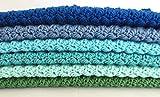 Spültuch Waschlappen gehäkelt Farbauswahl, blau, grün - Geschenk Geburtstagsgeschenk
