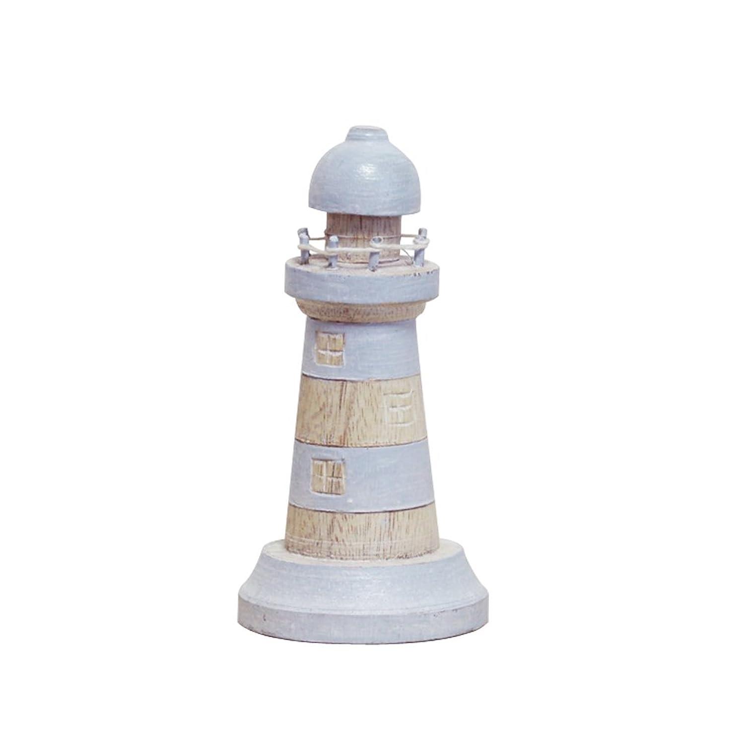 バスルーム階下エゴイズム【2015夏】灯台(水色?Sサイズ)【T-Lab】木彫りインテリア