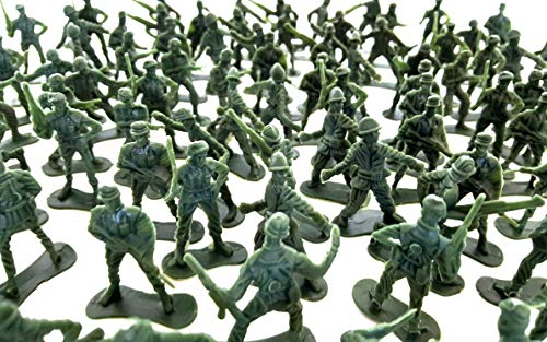 Plastic Classic Assorted Toy Soldiers, Toy Soldier Action Figures (144 Piece Pack)