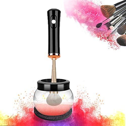 Mksutary Make-up Pinsel Reiniger Trockner, Elektrischer Make Up Pinselreiniger Set, Automatischer Pinsel Reinigungswerkzeuge, 10 Sekunden Waschen Und Trocknen, Geschenk für Frauen