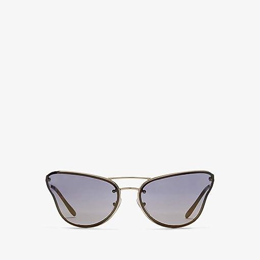 Pale Gold/Gradient Mirror Blue