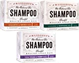 J.R.LIGGETT'S All-Natural Shampoo Bars -Tea Tree & Hemp Oil, Jojoba & Peppermint and Coconut & Argan Oil, Nourishes Follicles with Antioxidants and Vitamins, Sulfate-Free, Set of Three, 3.5 Ounce Bars