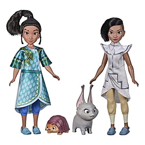 Disney 's Raya and The Last Dragon Young Raya and Namaari Fashion Dolls 2 Unidades, Ropa de muñeca de Moda, Juguete para niños de 3 años en adelante