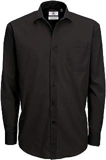 B&C Men's Smart Long Sleeve Poplin Shirt Business