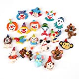 Wayees DIY Craft Making Clown Decoden Charms Flatback Resin Cabochons Embellishments Circus Themed Party Decor