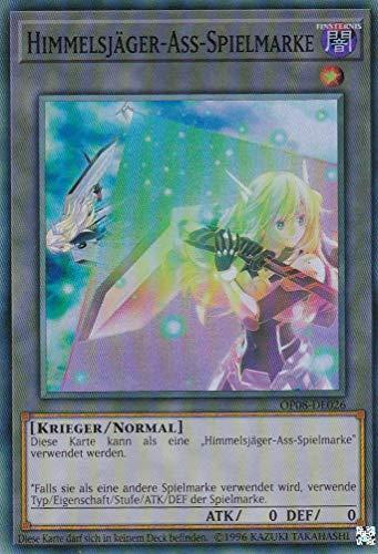 OP08-DE026 - Himmelsjäger-Ass-Spielmarke - Super Rare - Yu-Gi-Oh - Deutsch - 2. Auflage