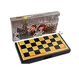 Set Juego Internacional de Ajedrez Juego de ajedrez magnético Tablero plegable Tablero de viaje portátil Juegos de juego de tablero con piezas de juego Ranuras de almacenamiento Juego de ajedrez for p