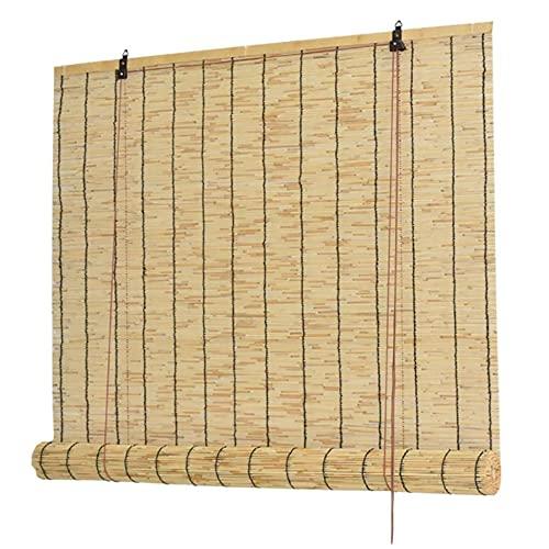 PLUY Cortina CañA, Persianas Bambu Exterior, Persianas Enrollables Materiales EcolóGicos Persianas de Bambú Retro para Terraza ai Aire Libre Adecuado para BalcóN Interior Sala de Estar