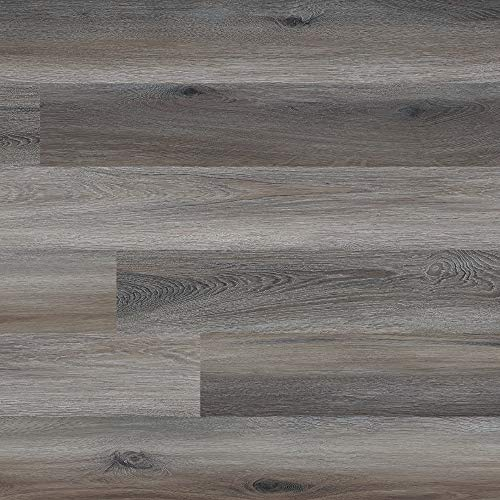 M S International AMZ-LVT-0018 Hampstead Maplewood 6 inch x 48 inch Gluedown Adhesive Luxury Vinyl Plank Flooring for Pro and DIY Installation, Gray, CASE, 36 Square Feet