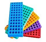 Soporte de tubo de 5 piezas para centrífuga PCR de doble panel de microcentrífuga, 60 pozos