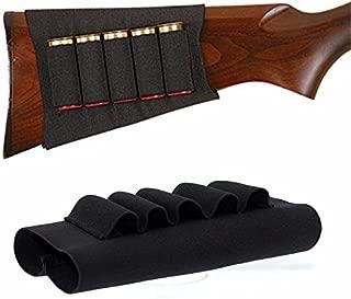 HTBMALL Tactical Buttstock for Shotguns - Stock Ammo Carrier - Shotgun Shell Holder for Rifles 5 Round - Shotshell Holder Buttstock Butt Stock Ammo Pouch Accessories Hunters Butt Stock for Butt Stock