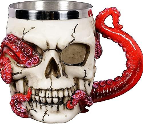 Skull Cup,Octopus Mug