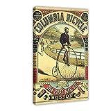 Vintage Kolumbien Fahrrad Leinwand Poster Wandkunst Dekor