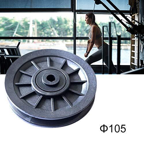 1 Stück Universal-70mm / 90mm / 105mm Durchmesser Abgrifffeste Nylon Bearing Riemenscheibe Kabel Gym Fitnessgeräte Teil, Fitnessgeräte (Color : 105 Mm)