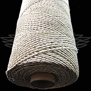 1 Metre of 2 ply Silver Sparkle String 100% Cotton Made In UK
