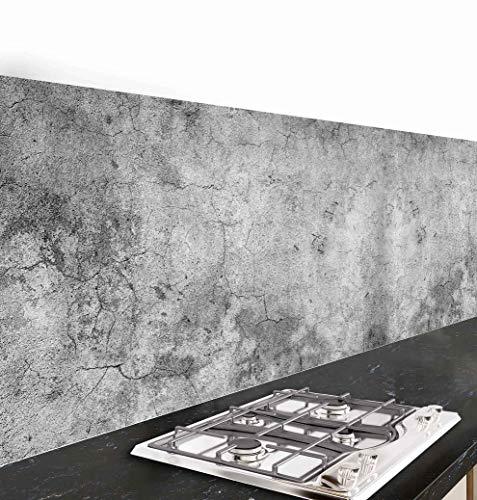 Pannello paraschizzi cucina adesivo da parete Cemento 260_x_60_cm 100% made in italy con inchiostro...