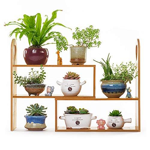 LYHY Étagère à Fleurs Support de Plante Creative Bois Massif Salon Petit Bureau Windowsill Rack Mini étagère de Stockage de Cadre de Fleur Multicouche