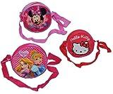 1 STK. Umhängetasche / Schultertasche - Hello Kitty - Prinzessin - Minnie Mouse - für Kinder abwischbar - Kind Katze Blumen Mädchen Kindergartentasche Trageta..