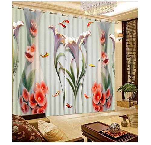 cortinas salon turquesa